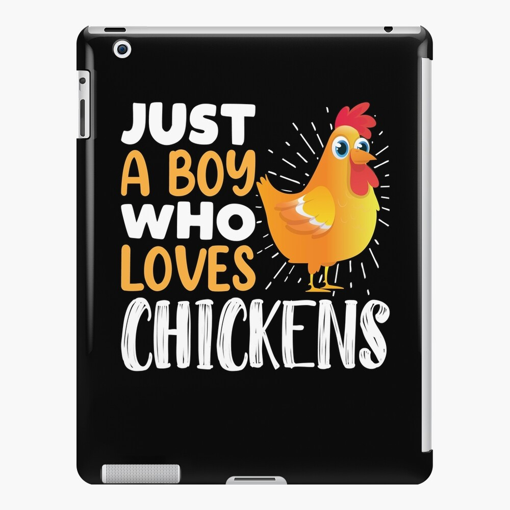 Just a Boy Who Loves Chickens Rooster Chicken Farmer Gift iPad Case & Skin