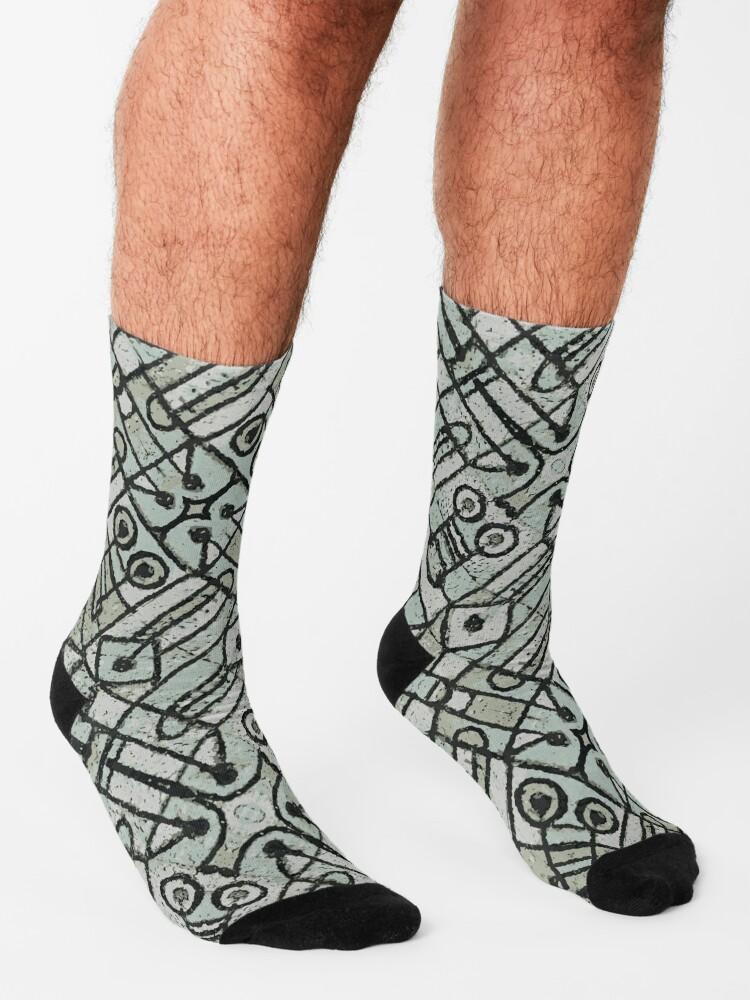 Alternate view of Geometric Ethnic Artwork Socks