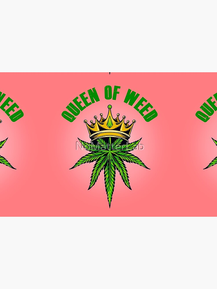 Queen of Marijuana - Long Live the Queen of Weed - Gold on Pink by NoMatterLab