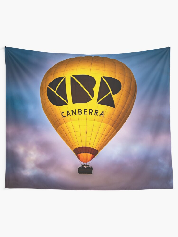 Alternate view of CBR hot air balloon Tapestry