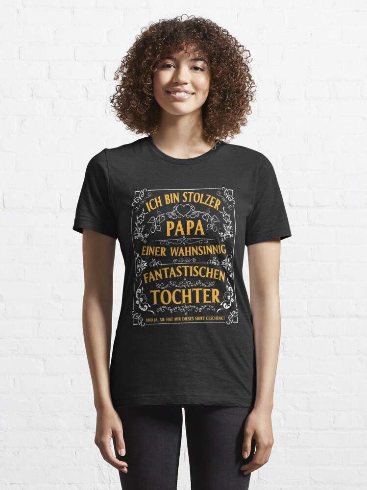 Alternate view of I am the proud dad of a fantastic daughter Vintage Essential T-Shirt
