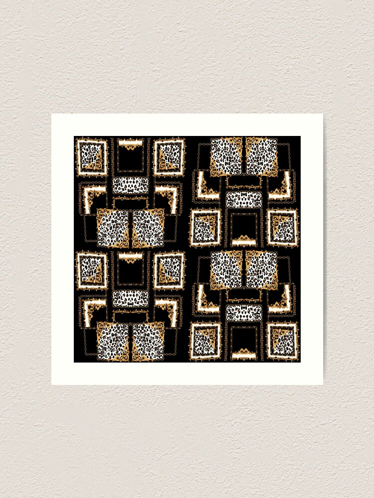 Alternate view of baroque and leopard work Art Print