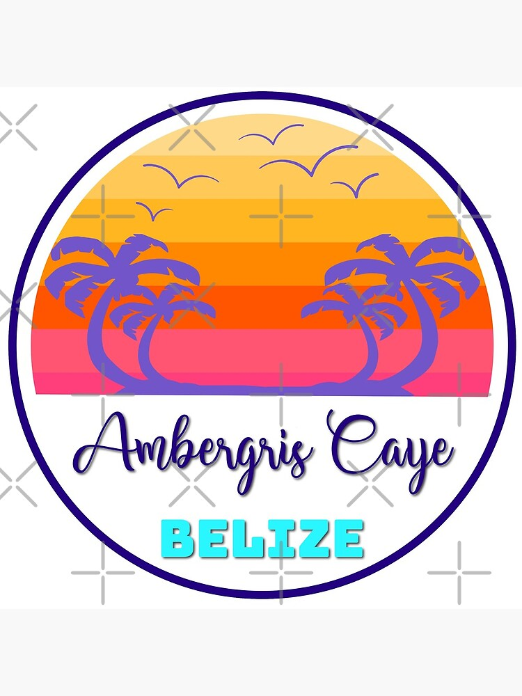 Ambergris Caye Belize Island Beach Sunset Palm Tree Outdoor Surfing Surf Cruise Vacation Gift Ideas by letourneau41