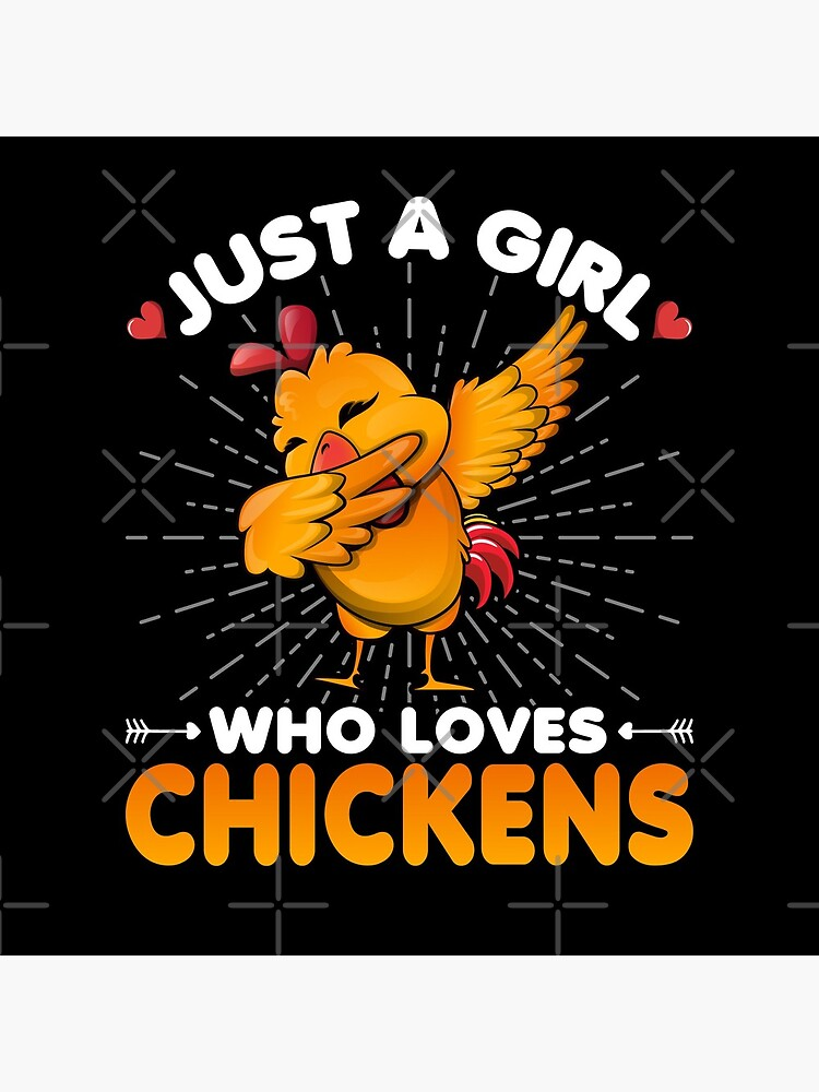 Just a Boy Who Loves Chickens Dabbing Dab Chicken Lover by CreativeVez