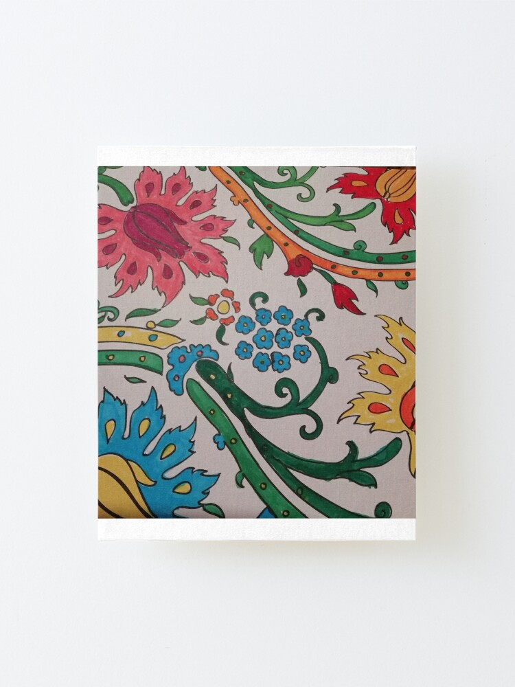 Alternate view of flowers Mounted Print