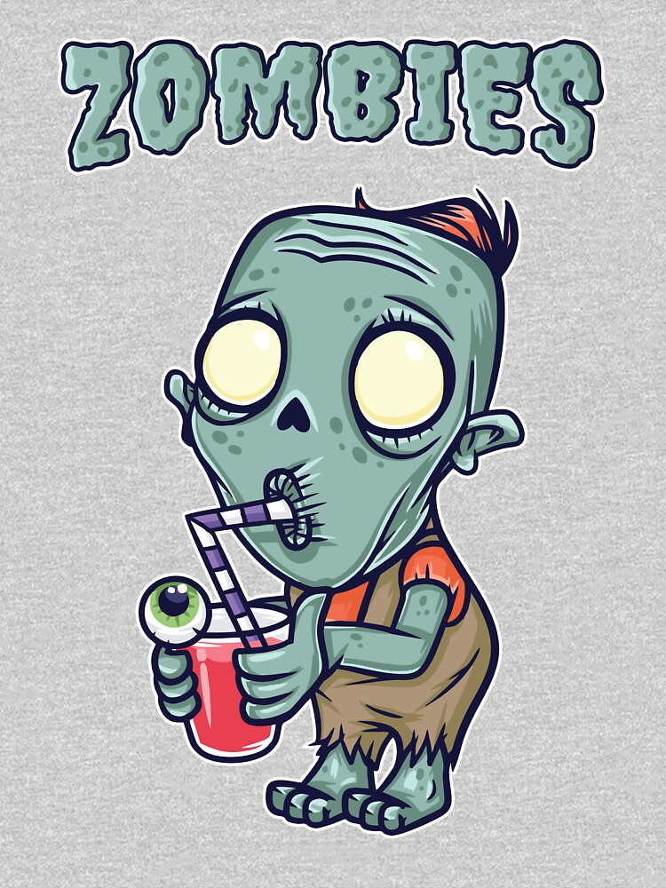 Zombie Drinking Eyeball Surprise by BLICK-DESIGNS