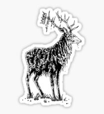 Stag and crown Sticker