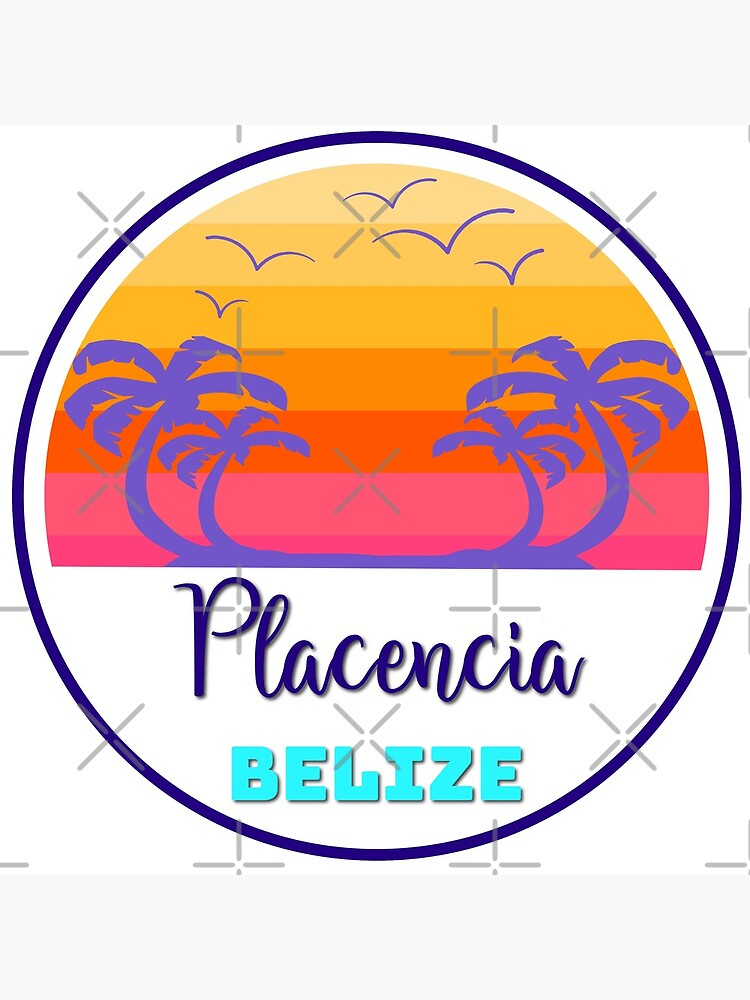 Placencia Belize Island Beach Sunset Palm Tree Outdoor Surfing Surf Cruise Vacation Gift Ideas by letourneau41
