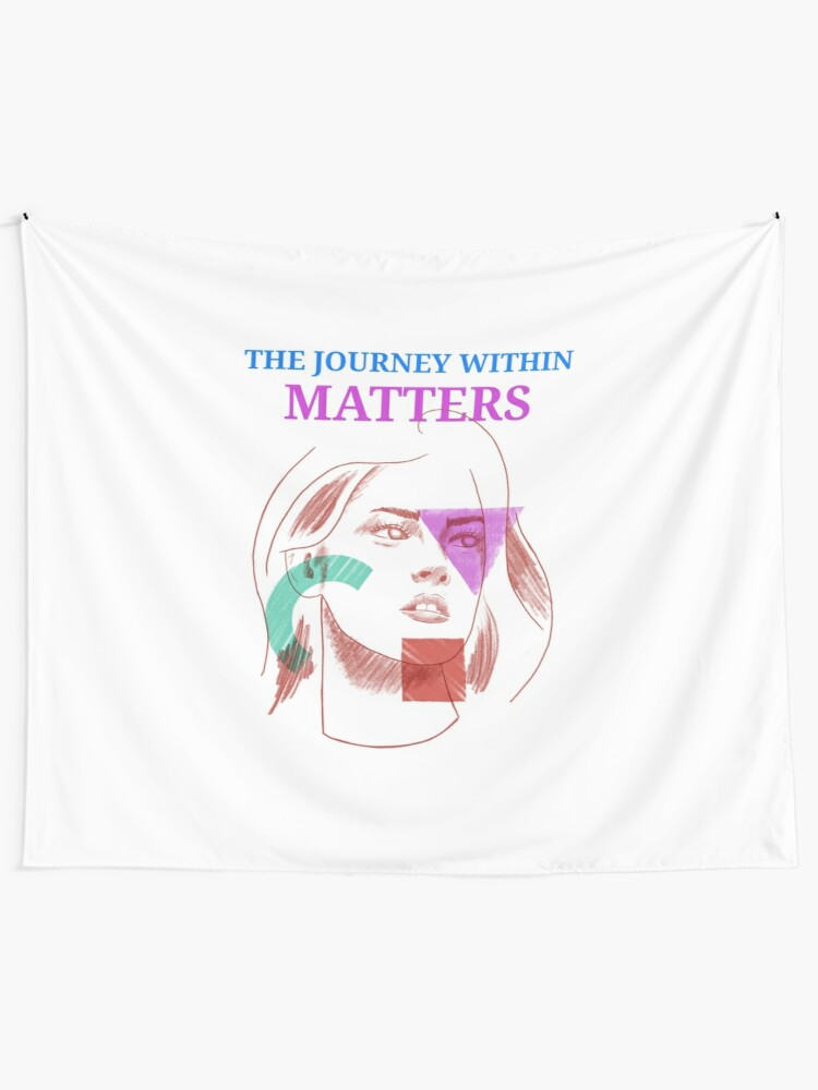 Alternate view of The Journey Within Matters - Mental Health Month Tapestry