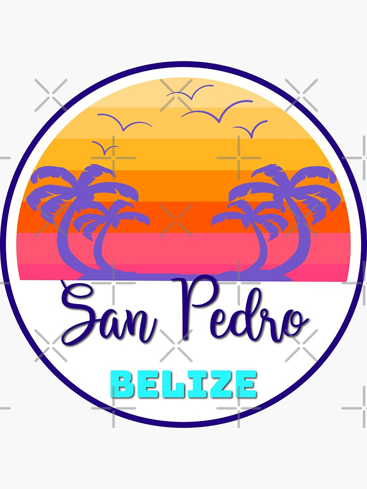 San Pedro Belize Island Beach Sunset Palm Tree Outdoor Surfing Surf Cruise Vacation Gift Ideas by letourneau41