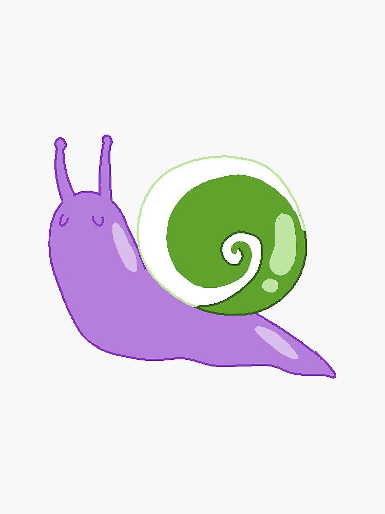 genderqueer snail by dear-snails