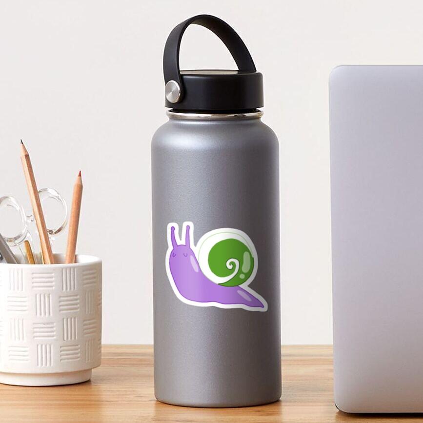 genderqueer snail Sticker