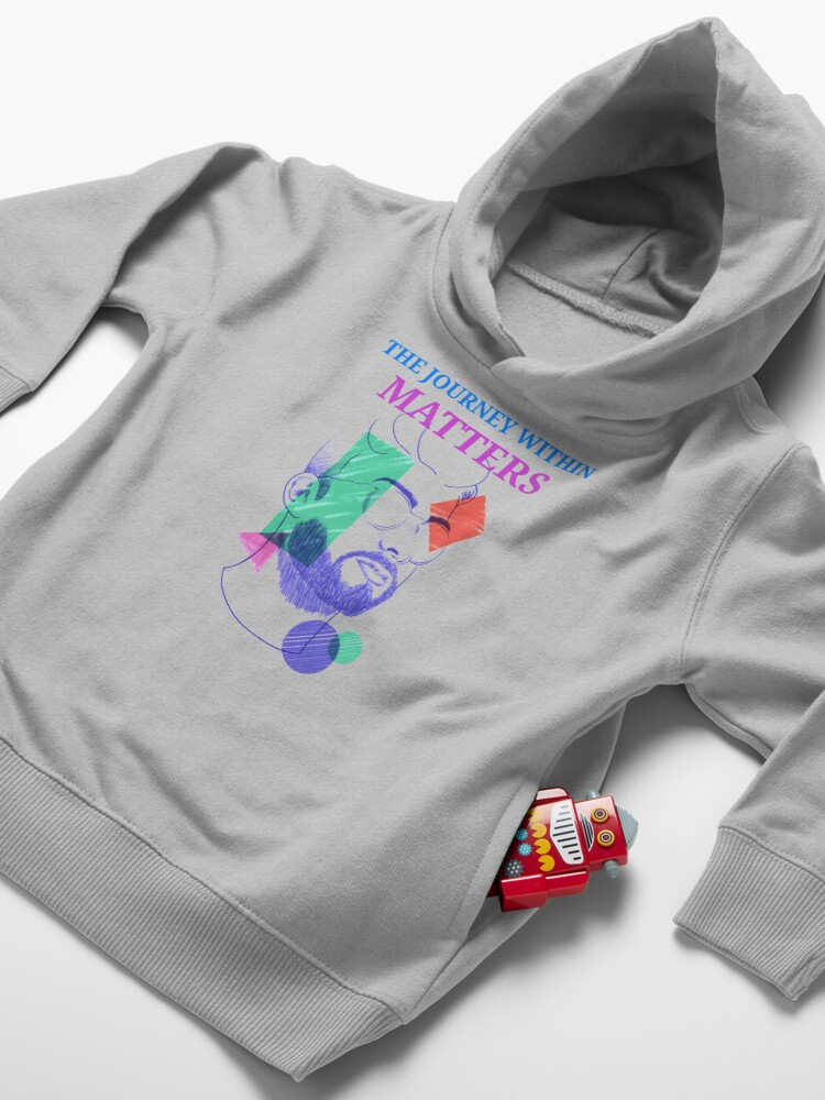Alternate view of The Journey Within Matters - Mental Health Month Toddler Pullover Hoodie