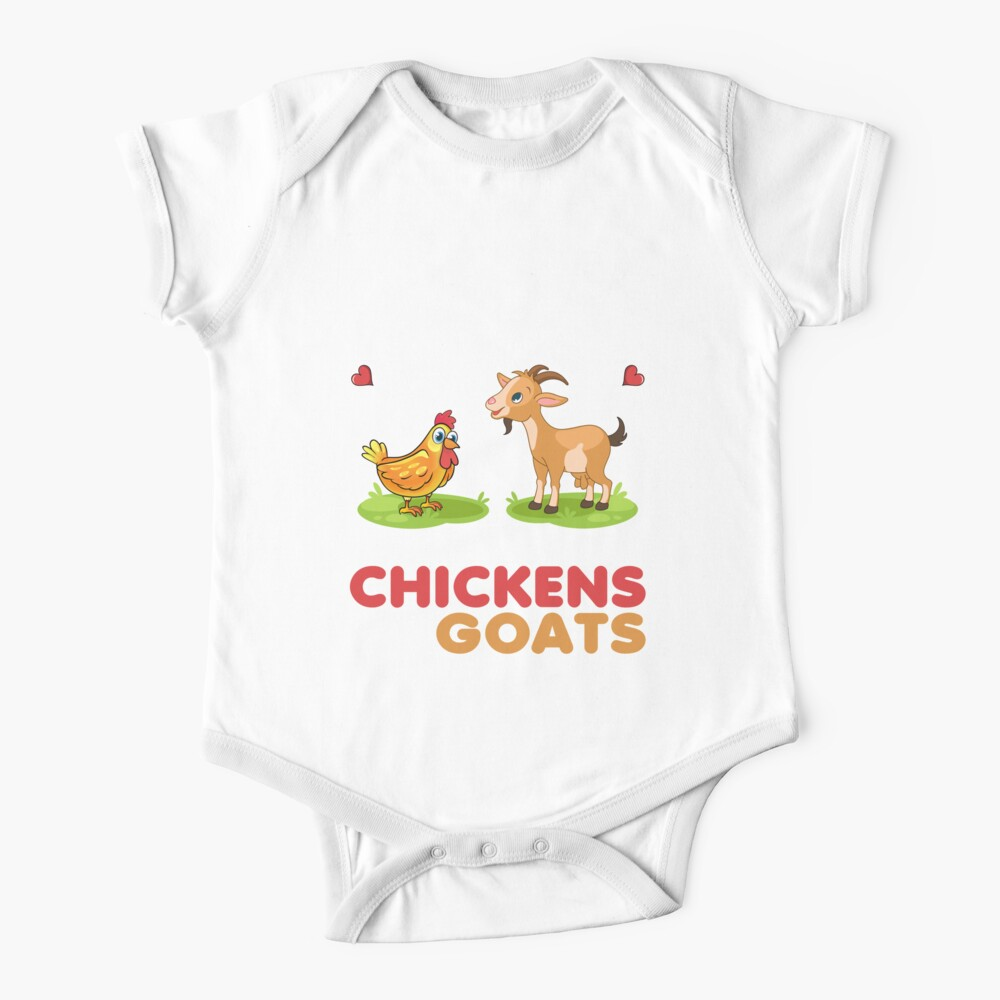 Just A Girl Who Loves Chickens & Goats - Funny Girl Chicken Baby One-Piece