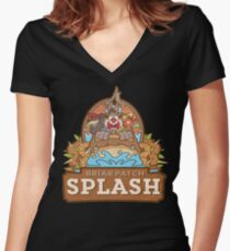 Briar Patch Splash Women's Fitted V-Neck T-Shirt