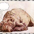 Unbelegter Gedanken-Blasen-Bär von missdaisydee
