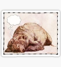 Blank Thought Bubble Bear Sticker
