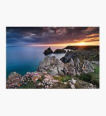 Cornwall - Kynance Sunset Photographic Print