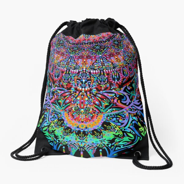 Mandala Energy Drawstring Bag