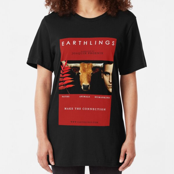 """Earthlings"" Movie Cover Slim Fit T-Shirt"