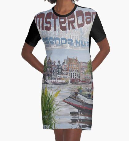 Amsterdam - de dansende huisjes Graphic T-Shirt Dress