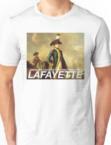 America's favorite fighting Frenchman — Lafayette! Unisex T-Shirt