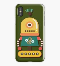 Quirky Retro Wind-up Robot Toy iPhone Case