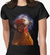 Chicken Galaxy Women's Fitted T-Shirt