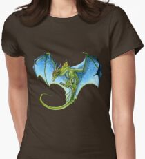 Azure-Winged Dragon Women's Fitted T-Shirt