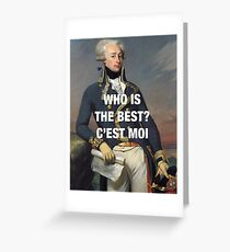 Lafayette — C'est Moi Greeting Card