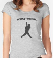 babe ruth Women's Fitted Scoop T-Shirt