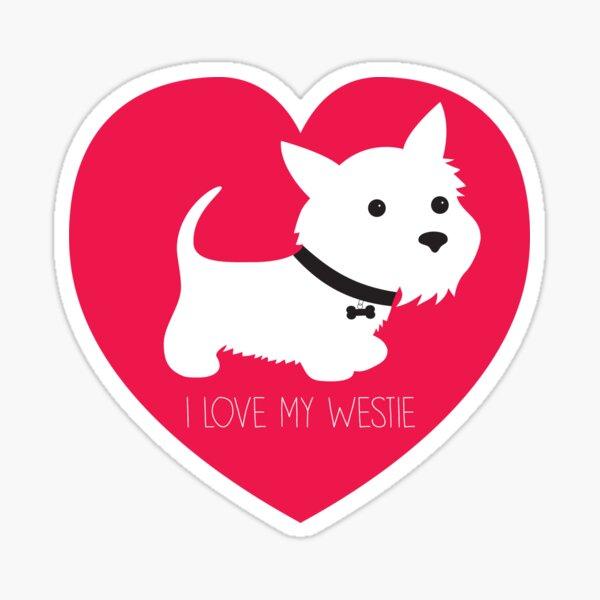 I Love My Westie_Copyright © BonniePortraits on Redbubble.com Sticker