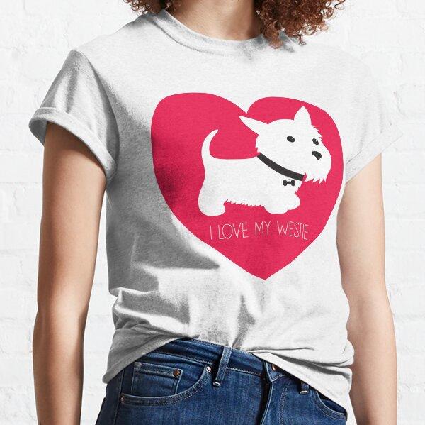 I Love My Westie_Copyright © BonniePortraits on Redbubble.com Classic T-Shirt