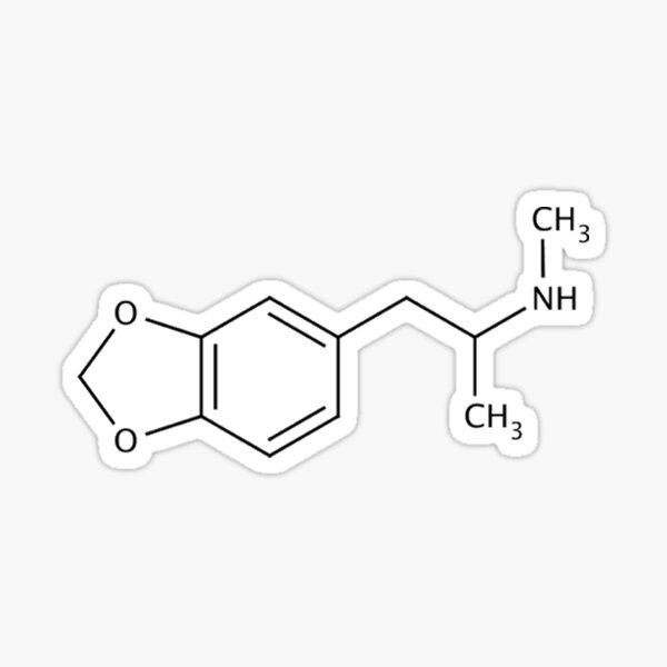 MDMA (Ecstasy) Molecule Sticker