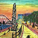 Blacksmith's Needle Newcastle Quayside by George Hunter