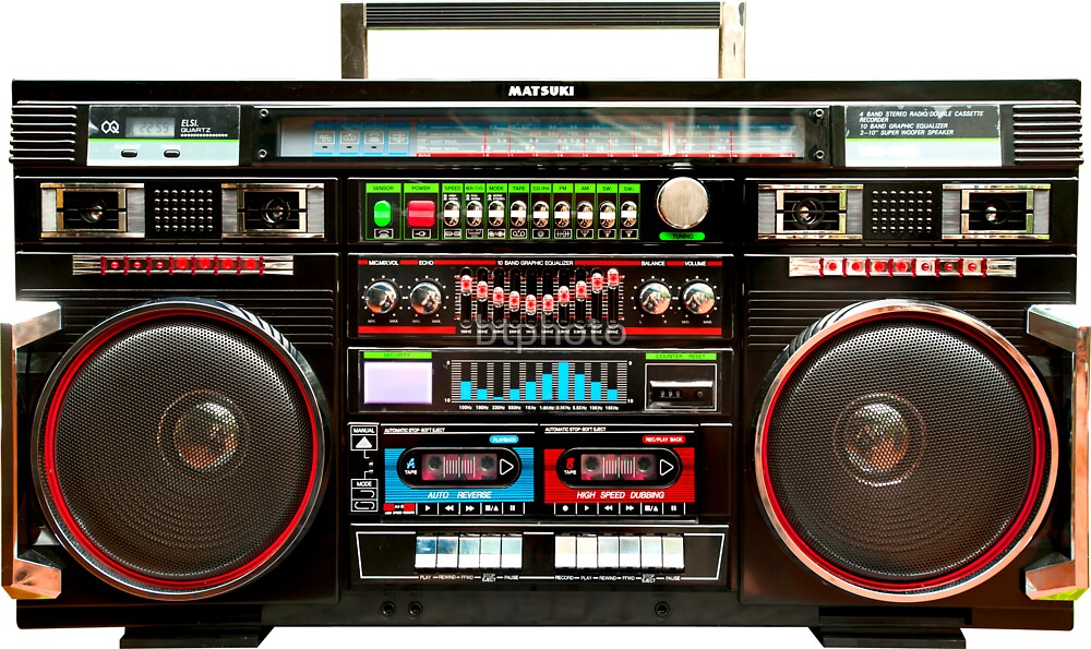 huge boombox ghetto blaster by btphoto redbubble. Black Bedroom Furniture Sets. Home Design Ideas