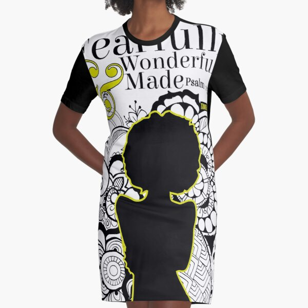 Fearfully and Wonderfully Made Graphic T-Shirt Dress