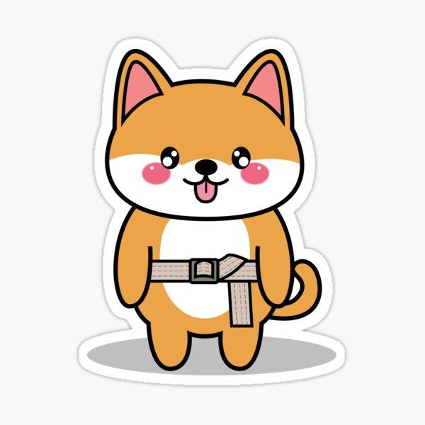 OTDUDE FUNctional Friends Shiba Inu Sticker