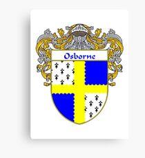 Osborne Coat of Arms / Osborne Family Crest Canvas Print