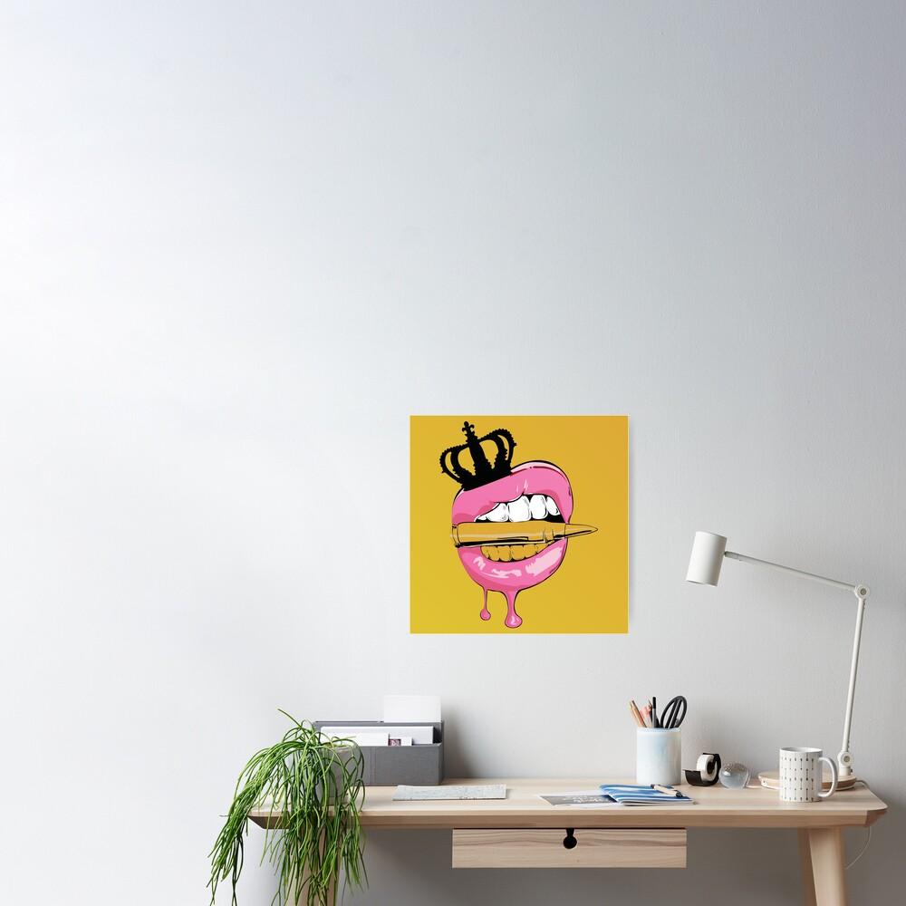 Gold Crown Bullet Poster