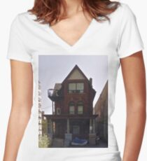 House Of Balloons Women's Fitted V-Neck T-Shirt