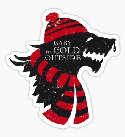 Baby, it's cold outside Sticker
