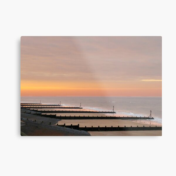 Sheringham Beach Sunset Norfolk Metal Print