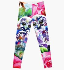 Little Saw Whet Owls Leggings