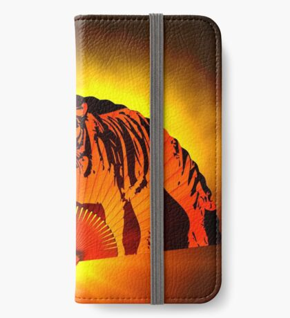 Asian subjects; Motive: Tiger iPhone Wallet
