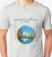 Matterhorn Mountain lake view Unisex T-Shirt
