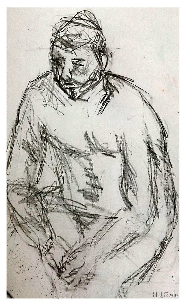life drawing june by H J Field