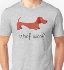 Woof Woof (Sausage dog) ©BonniePortraits.com Unisex T-Shirt
