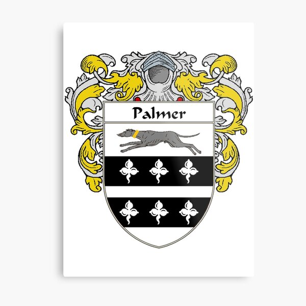 Palmer Coat of Arms / Palmer Family Crest Metal Print