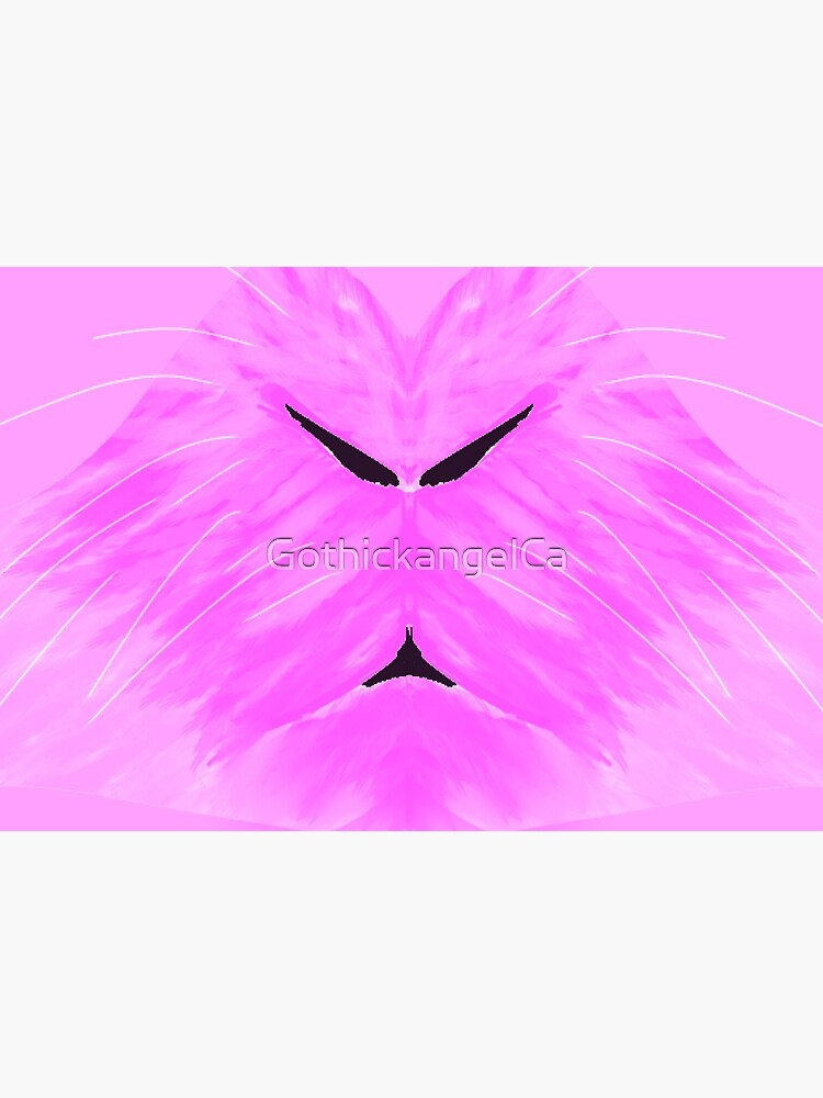 Fluffy Pink Bunny Face Mask by GothickangelCa